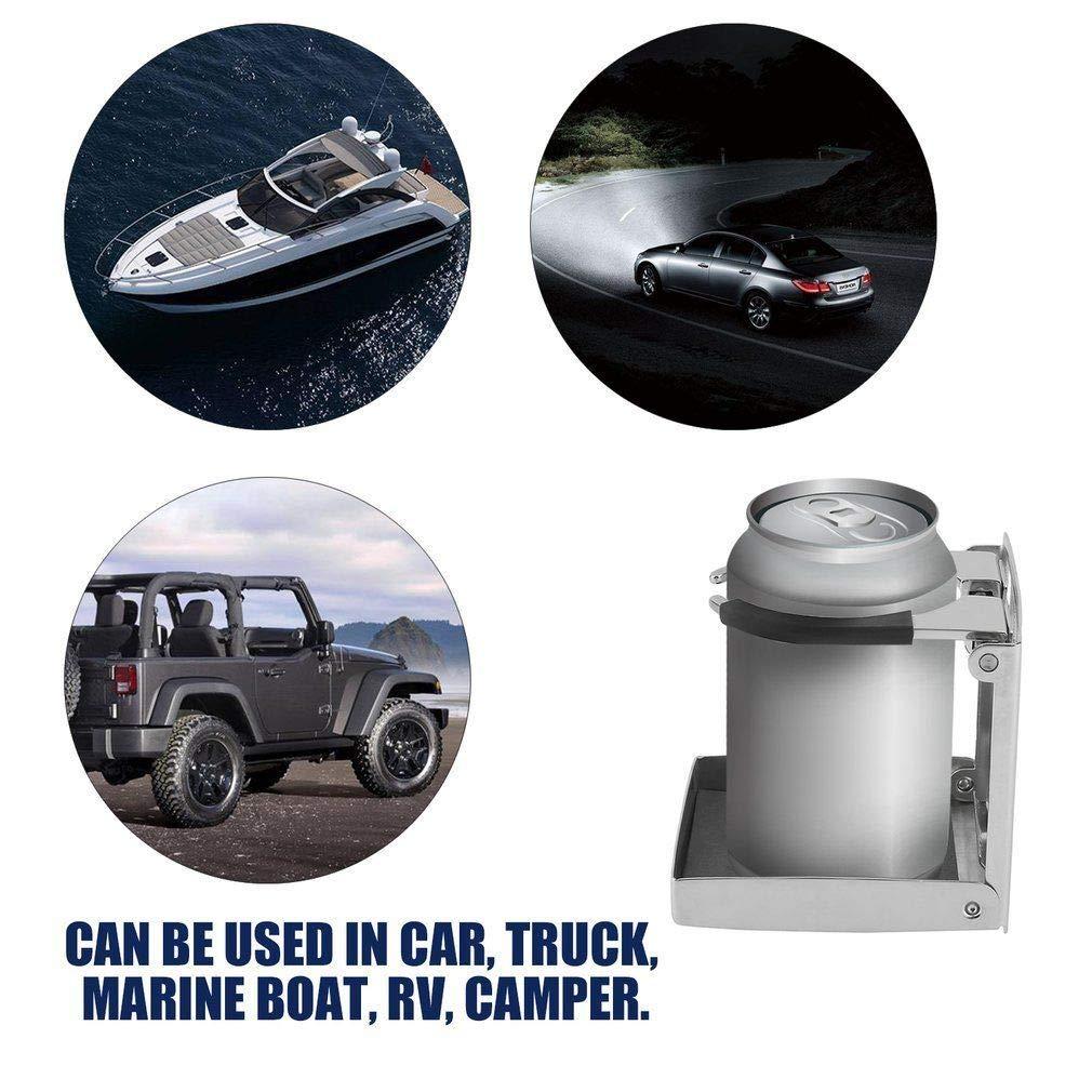 sportuli Folding Car Cup Holder Bottle Drink Holder Camper//RV//Yacht Stainless Steel