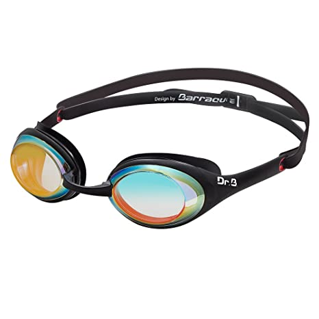 d1d36f31e944 Dr.B Barracuda Optical Swim Goggle DRB941 - Patented TriFusion System  Gaskets Mirror Corrective Lenses Anti-Fog UV Protection Comfortable No Leak  Easy ...