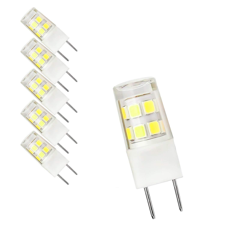 5-Pack G8 LED Bulb 120V - T4 G8 Base Bi-pin Xenon JCD Type LED Halogen Replacement Bulb 50W Equivalent White 6000K … (Daylight)