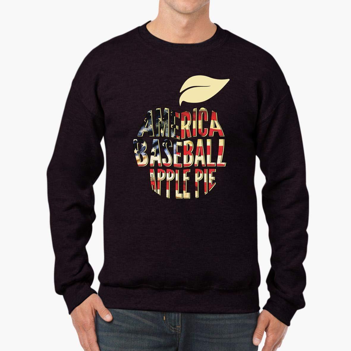 America Baseball Apple Pie Patriotic Unisex Sweatshirt tee