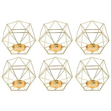 Various Geometric Design Tealight Candle Holder Wedding Home Centerpieces Decor