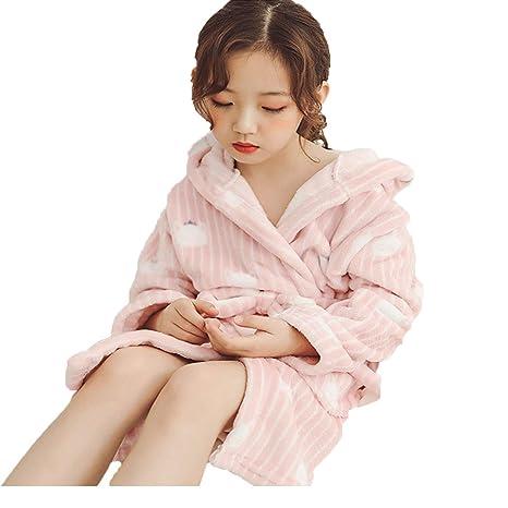 Pijamas de franela de doble cara para niños, modelos de otoño e invierno, niños y niñas, engrosando el servicio a domicilio en la bata grande para niños.