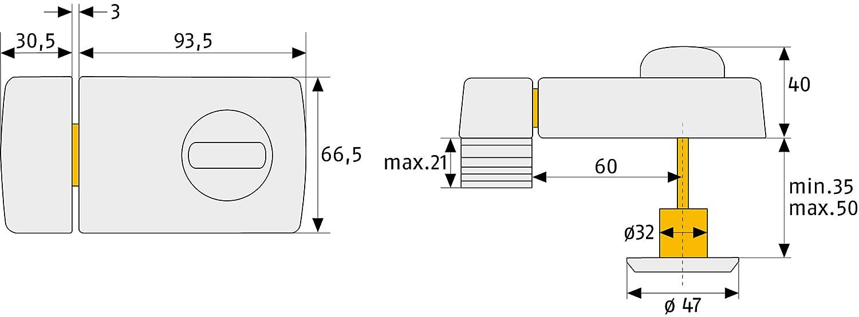 ABUS 2110 B B//DFNLI Türzusatzschloss