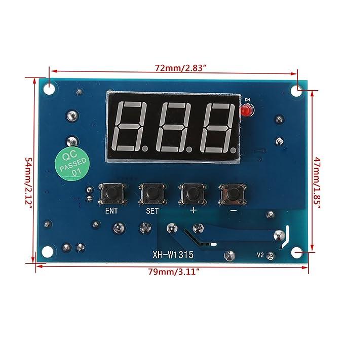 Termostato digital K-Type módulo AC 220V/DC 12/24V 30°C a +999°C ...