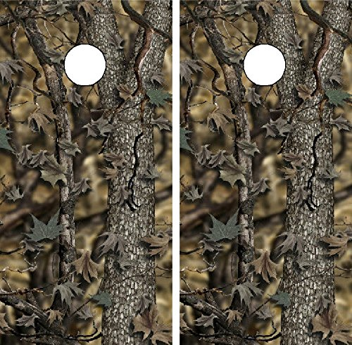 Avery C114 Camo Camouflage Cornhole Laminated Decal WRAP Set Decals Board Boards Vinyl Sticker Stickers Bean Bag Game Wraps Vinyl Graphic Tint Image Corn Hole