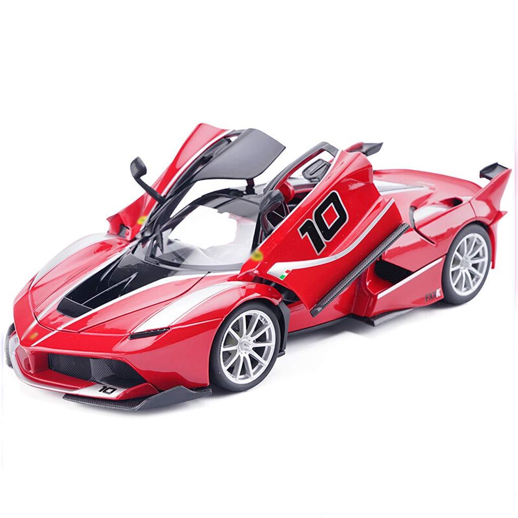 DUWEN-Modelo de coche Ferrari Die Casting Modelo 1:18 Aleación de emulación Modelo de Coche Colección Adornos de Coche FXX K-10
