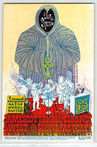 The Spirit James Cotton Original Handbill Sound Factory Sacramento 1968 -