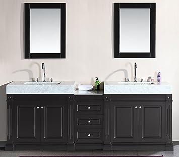 Design Element Odyssey Double Trough Style Sink Vanity Set  90 Inch. Design Element Odyssey Double Trough Style Sink Vanity Set  90