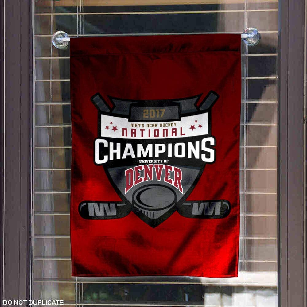 Denver Pioneers Mens College Hockey National Champions Garden Flag