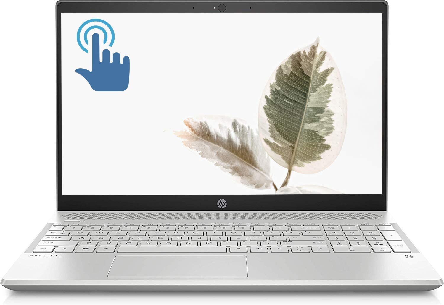 "HP Pavilion Premium Laptop Computer PC, 15.6"" Full HD IPS Touchscreen Display, 10th Gen Intel Quad-Core i5-1035G1, 8GB DDR4 256GB PCIe SSD Backlit Keyboard WiFi HDMI USB-C BT 5.0 HD Webcam Win 10"