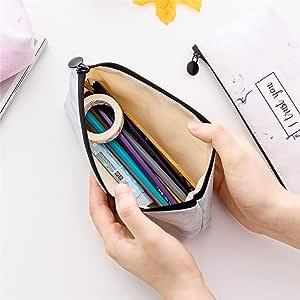 uyhghjhb - Estuche para lápices, diseño de letras y mármol Random Color: Amazon.es: Hogar