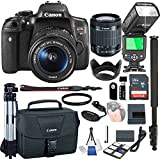 Canon EOS Rebel T6i With 18-55mm f/3.5-5.6 IS STM + 32GB Memory + Camera Bag + TTL Speed Light + Pro Filter,(21pc Bundle)
