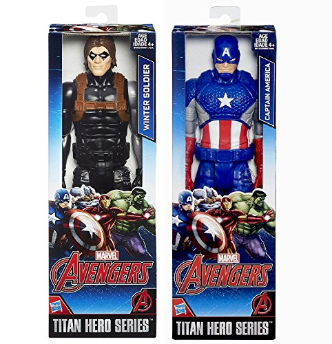 Marvel Titan Hero Series Captain America + Winter Soldier Action Figure Avengers Set