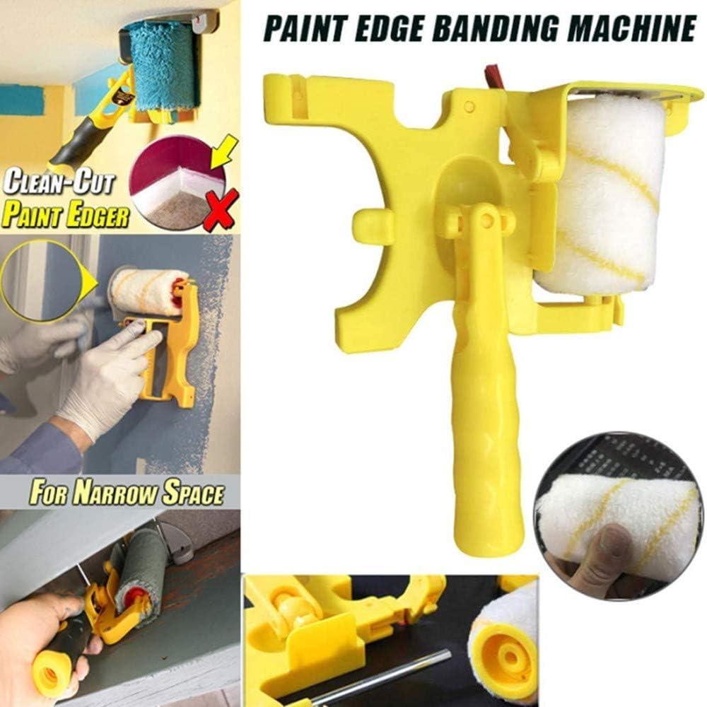 Paint Edger multifuncional Clean-Cut Paint Edger Roller Brush Kit de herramientas seguro port/átil para techos de pared de la sala de hogar Paint Edger Roller Brush