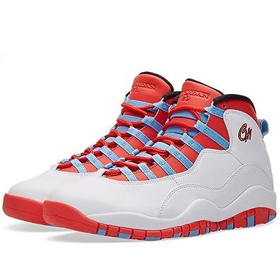 Amazon.com | Jordan Men\u0027s Air 10 Retro, Chicago-White/Lt Crimson-University  Blue-Black | Basketball