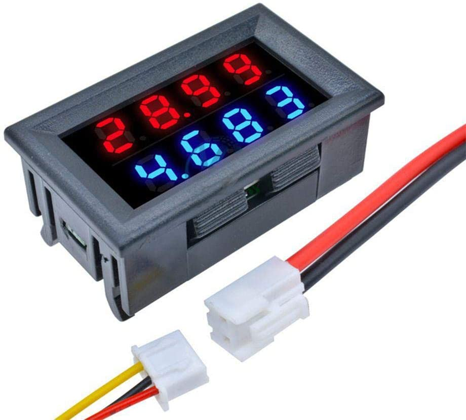 ILS – DC 100 V 10 A 0,28 pulgadas Mini Digital voltímetro amperímetro 4 bits 5 hilos tensión medidor corriente con LED doble pantalla