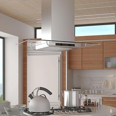SHENGFENG Campana extractora de cocina a Isla con pantalla LCD.Questa Cappa ultra-silenziosa y potente aspirera effettivamente I Gas Ed El Humo, I grasas y la UMIDITA: Amazon.es: Grandes electrodomésticos