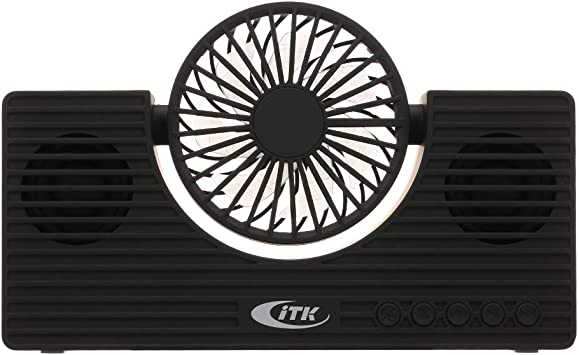 Gamogo Mini Altavoz BT con Ventilador Altavoz para teléfono ...