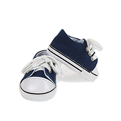 """American Fashion World Navy Sneakers -18"""" Dolls: Toys & Games"""