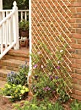 Master Garden Products Set of 2 Pcs Peeled Willow Expandable Lattice Fence, 36'' H x 72'' L, Light Mahogany Color