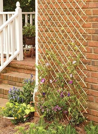 Set Of 2 Pcs Peeled Willow Expandable Lattice Fence, 48u0026quot;H X 72u0026quot;