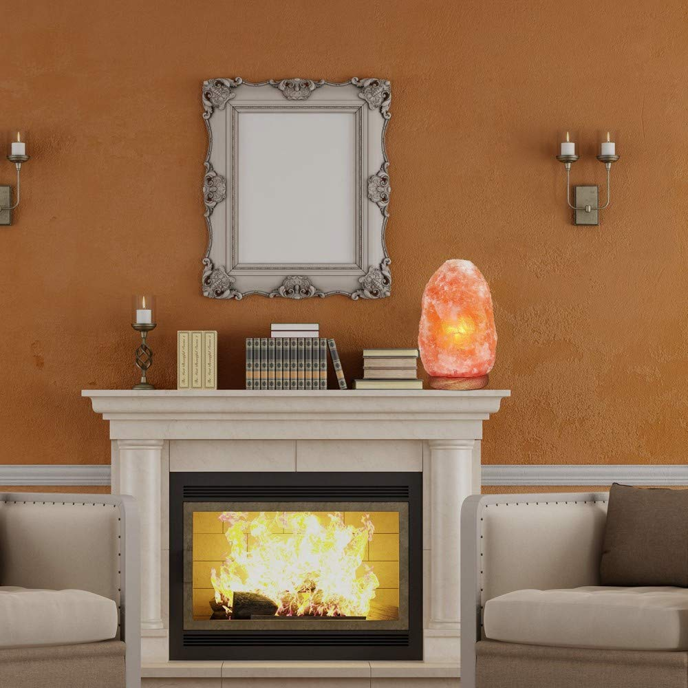 100/% Premium and FINE Quality SOURCEDIY/® 9-12 KG Natural Hand Carved Natural Himalayan Pink Crystal Rock Salt LAMP with CE Certified Button Switch and British Standard Electric Plug