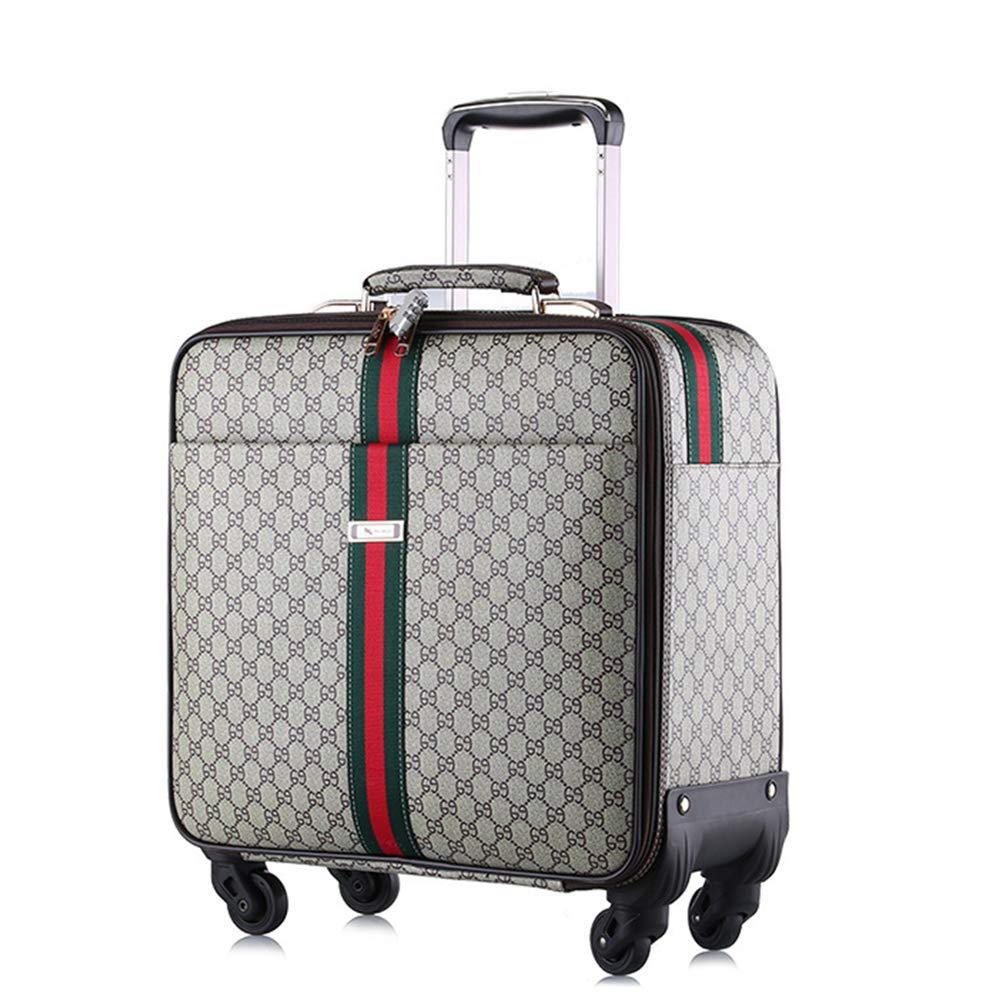 荷物スーツケース、チェック柄2ピース合成皮革スーツケース、盗難防止南京錠ビジネススーツケース、短期キャビン搭乗トロリーに最適,B B07T1RLJV7 B