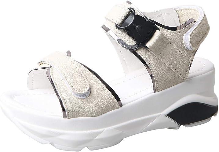 Moonker Women Sandals,Women Summer Transparent Heels Slippers Ladies Girls Casual Wild Open Toe Slides Casual Shoes