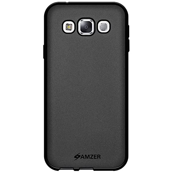 new style f10c2 96d36 Amzer Pudding TPU Skin Case Back Cover for Samsung GALAXY E5 - Retail  Packaging - Black