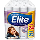 Papel Higiênico Elite Duallete Folha Dupla Ultra, 24 rolos, Branco