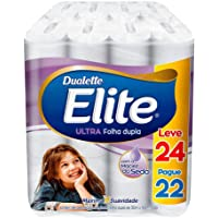 Papel Higiênico Elite Dualette Folha Dupla Ultra, 24 rolos