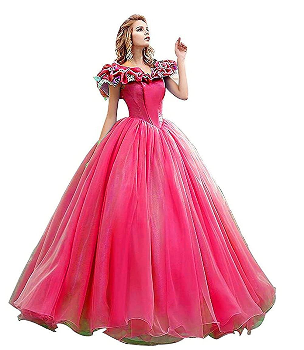Snowskite Princess Sweet 16 Butterfly Ball Gown Cinderella Quinceanera Dress JK11362090