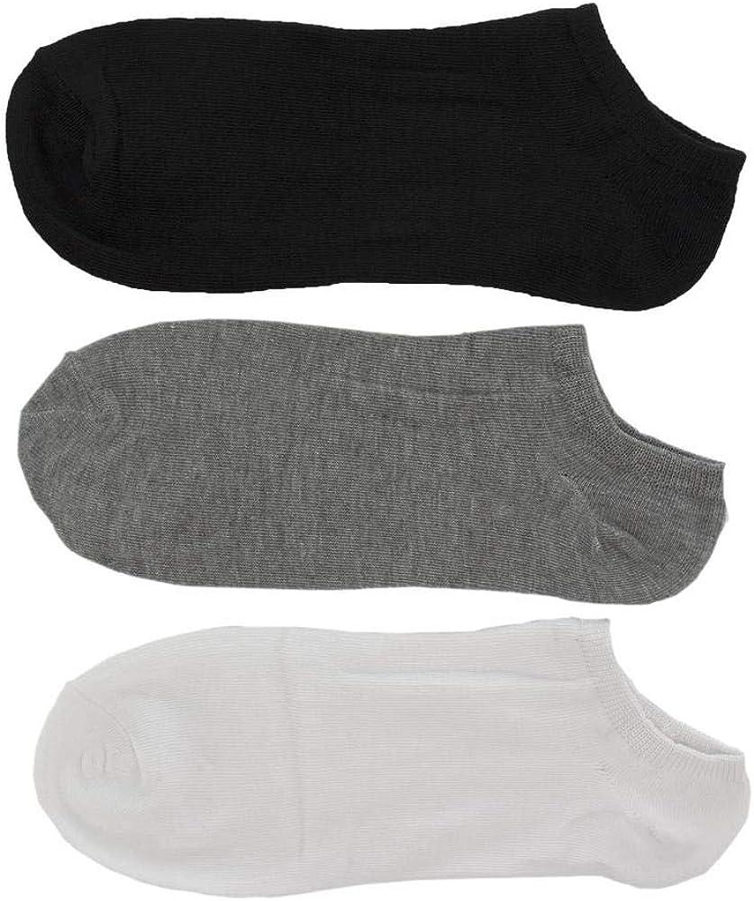 Ideales para Uso Diario y Actividades Deportivas Blanco Calcetines Cortos Transpirables Poligono Calcetines para Hombre y Mujer Calcetines Deportivos de Algod/ón Suave Gris Negro