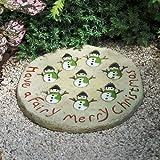 Miniature Fairy Garden Patio Pad, Snowman