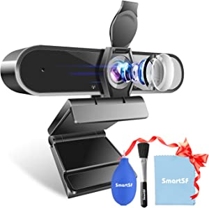 Webcam, Anni Webcam with Microphone, 1080P HD Webcam with Privacy Cover Plug and Play USB Webcam for Video Conferencing, Streaming, Teaching, Gaming PC Mac Laptop Desktop Skype/YouTube/Zoom Webcam