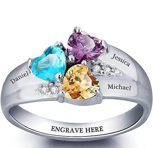 8 D-2 Belle améthyste /& zircon Valentine Meilleur Cadeau Bijoux handmade Ring Size