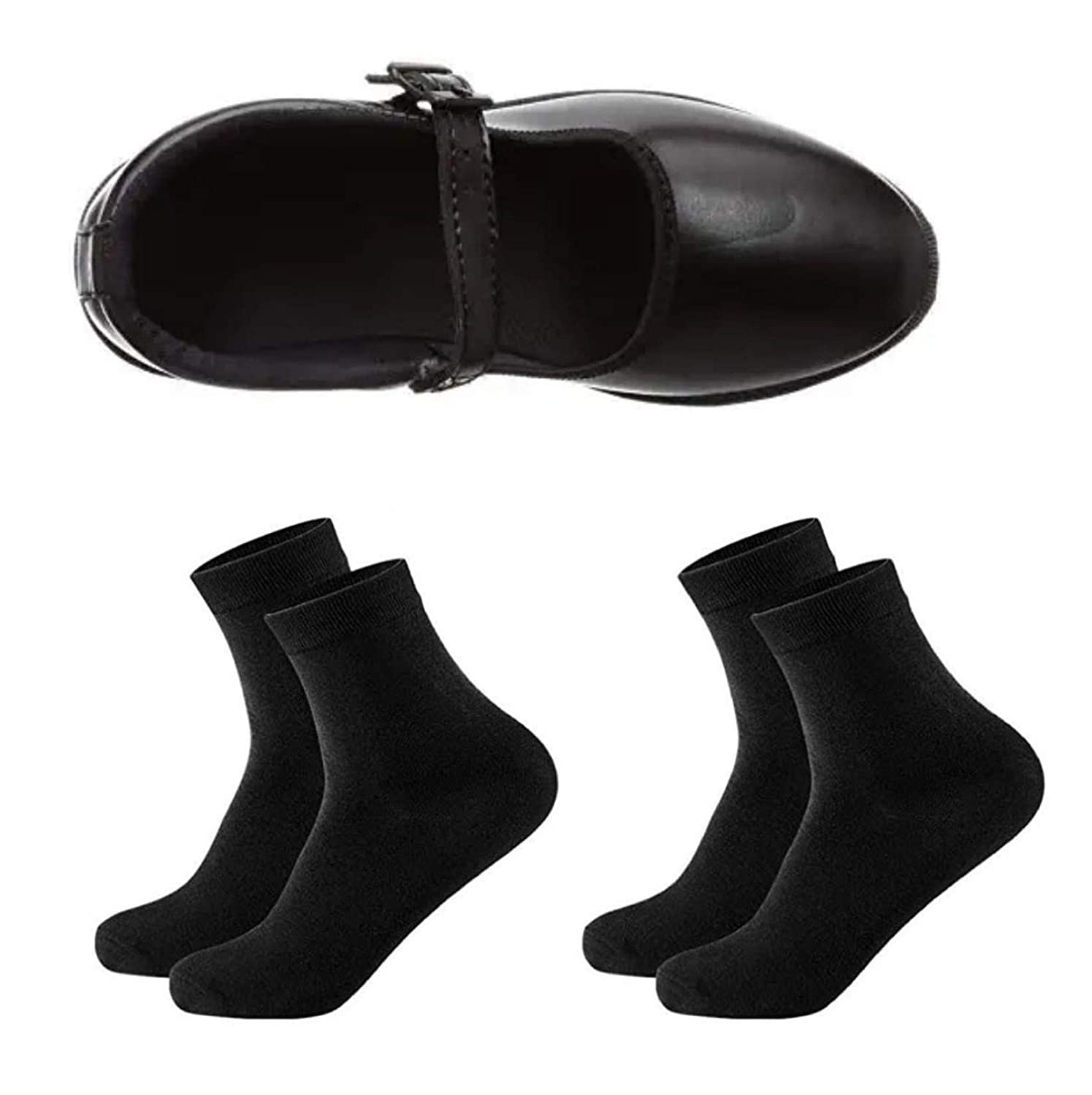 School Shoes Black Combo Offer