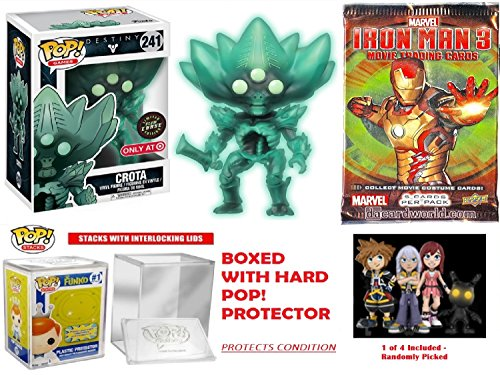 Funko Pop! Destiny 2 Crota, Chase Limited Edition Glow in the Dark Exclusive, Safe Collectors Bundle Vinyl Figure