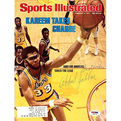 d014f75f8 Kareem Abdul-Jabbar Autographed Signed Sports Illustrated Lakers  S63135 -  PSA DNA Certified