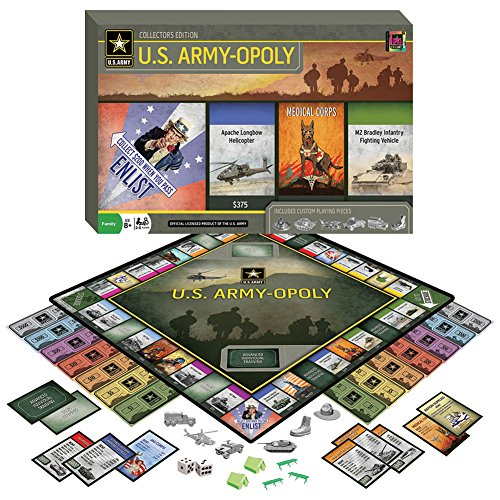 U.S. Army-opoly Collectors Edition Family Board Game w/ Fun Historical Facts