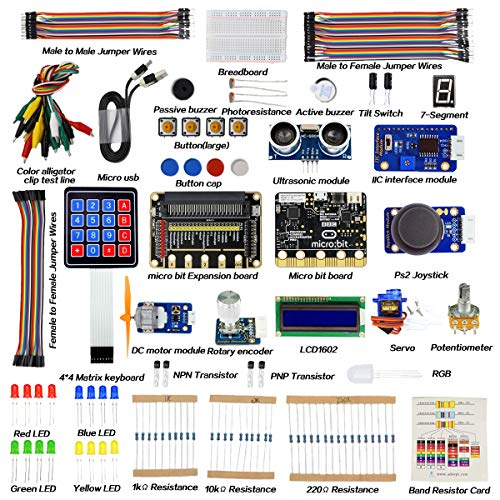 Adeept BBC Micro:bit Starter Kit | Electronic microbit Starter Kit for Micro:bit with 31 Projects Tutorial Book