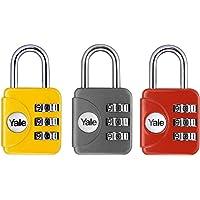 Yale Geniş Tip Mini Şifreli Karışık Renkli Asma Kilit / Yp1/28/121/1