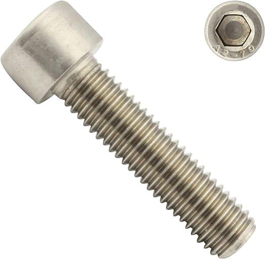 - Vollgewinde - DIN 912 ISO 4762 Zylinderkopfschrauben Zylinderschrauben mit Innensechskant aus rostfreiem Edelstahl A2 V2A 20 St/ück M10x20 - SC912