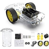 diymore 2WD Robot Smart Car Chassis DIY Kits Motor Inteligente con Velocidad de Seguimiento y Taco Encoder 65x26mm…