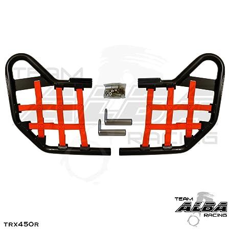 2004-2009//2012-2014 Compatible with Honda ATV Rear Grab Bar Bumper - Compatible with Honda Silver TRX 450R
