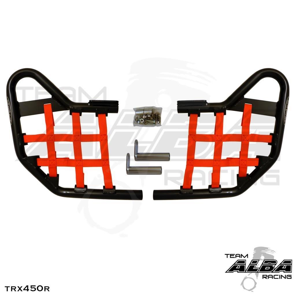 Honda TRX 450R (2004-2009) Standard Nerf Bars Black w/ Red Net