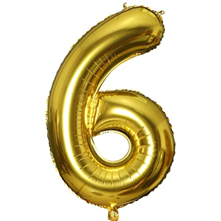 Smarcy Globos Número 6 Decoración de Cumpleaños 6 Años ...