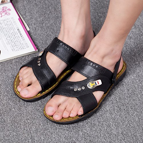ACMEDE Men Sandals Breathable Anti Slip Summer Fashion Holidays Pool Men Flip Flop Black Ah30SKX5u
