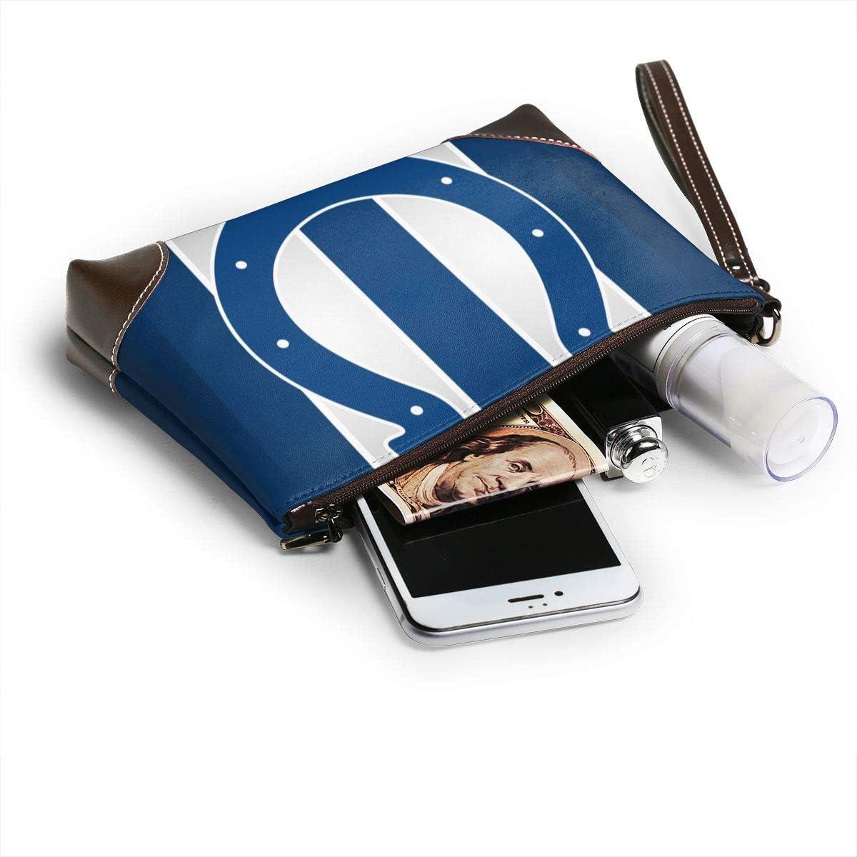 Briefcase Soft Leather Wrist Strap Clutch with Zipper ALHOKLAus 1 Fashionable Leather Clutch Portable Handbag