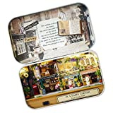 Dovewill DIY Handicraft Tin Box Wood Miniature Dollhouse Theatre Series Birthday Gift -In A Happy Corner